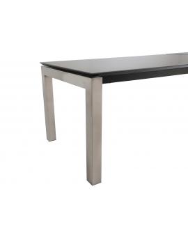 Auszugtisch Roc Keramik 4-Fuss silber 90 x 160/240 cm_29048
