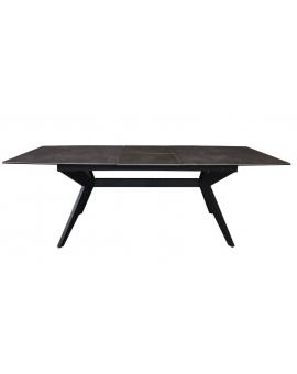 Auszugtisch Jose Keramik Kreuzfuss schwarz 90 x 180/230 cm_29059