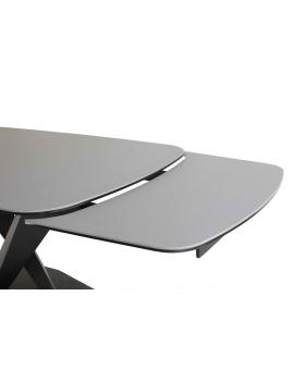 Auszugtisch Igna Keramik Mittelfuss schwarz 90 x 160/200/240 cm_29070