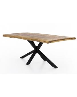 Tisch Aleo natur Kreuzfuss antikschwarz_29075