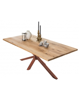 Tisch Archer Wildeiche Metall antikbraun_29123