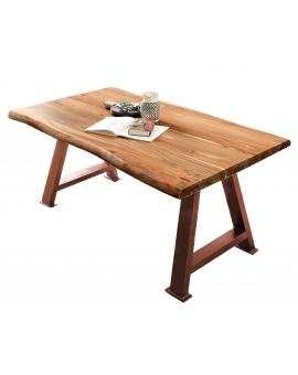 Tisch Aren natur Metall antikbraun_29137