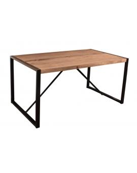 Tisch Asker natur Metall schwarz_29144