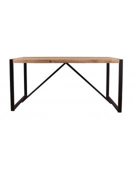 Tisch Asker natur Metall schwarz_29145