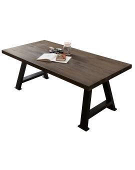 Tisch Bodo Balkeneiche carbon-grau A-Fuss antikschwarz_29151