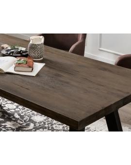 Tisch Bodo Balkeneiche carbon-grau A-Fuss antikschwarz_29154