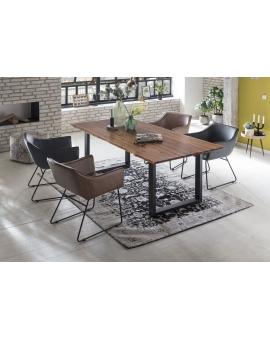 Tisch Dela cognacfarbig Metall schwarz_29200