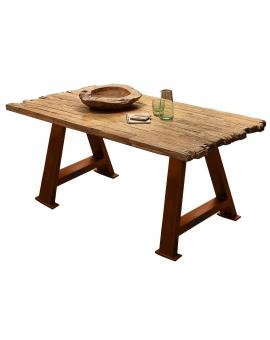 Tisch Erno natur A-Fuss antikbraun_29206