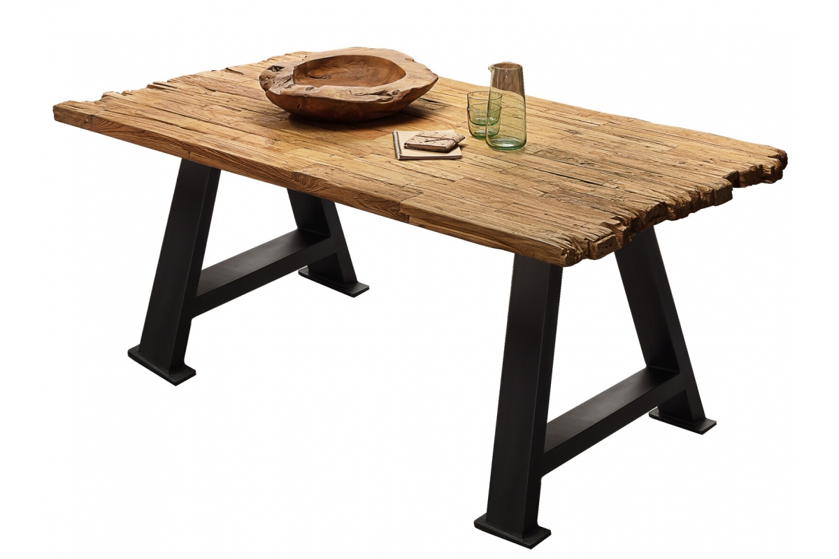 Tisch Erno natur A-Fuss antikschwarz_29208
