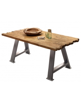 Tisch Erno natur A-Fuss antiksilbern_29209