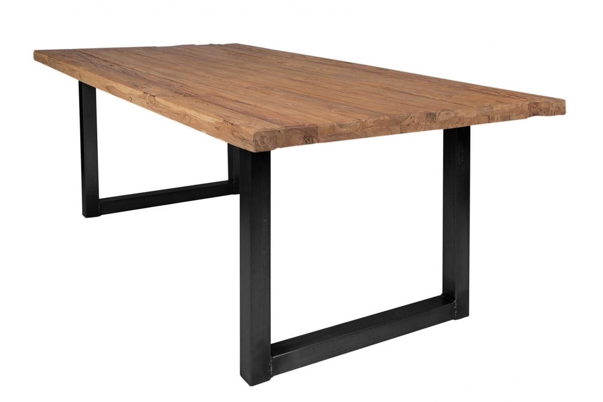 Tisch Erno natur Kufe antikschwarz_29212
