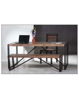 Tisch Gama natur Metall antikschwarz_29225