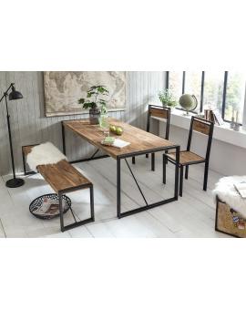 Tisch Gama natur Metall antikschwarz_29227