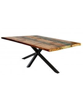 Tisch Ganda bunt Metall antikschwarz_29230