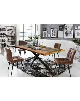 Tisch Ganda bunt Metall antikschwarz_29231
