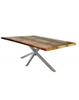 Tisch Ganda bunt Metall antiksilbern_29232