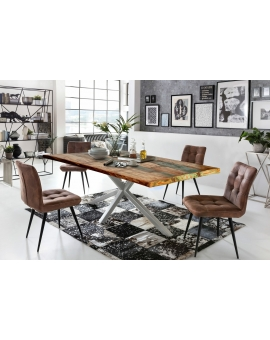 Tisch Ganda bunt Metall antiksilbern_29233