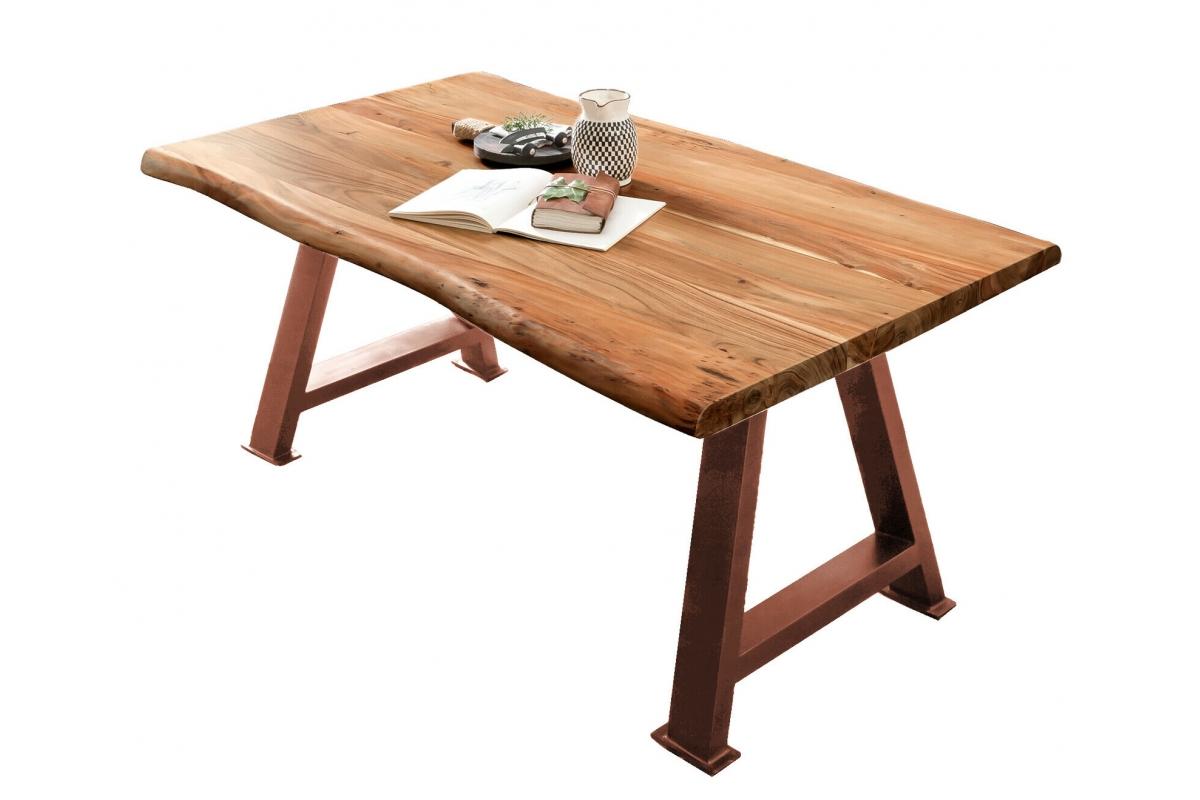 Tisch Hasge natur Metall antikbraun_29234