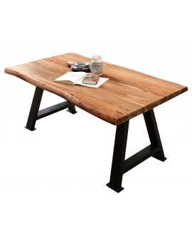 Tisch Hasge natur Metall antikschwarz_29235