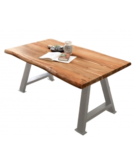 Tisch Hasge natur Metall antiksilbern_29236