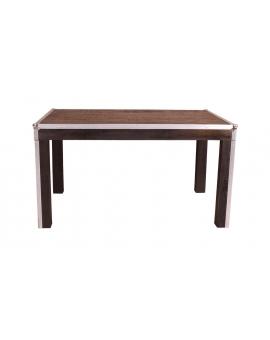 Tisch Horda dunkelbraun Massivholz dunkelbraun 90 x 140 cm_29237