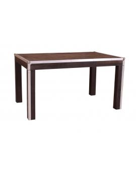 Tisch Horda dunkelbraun Massivholz dunkelbraun 90 x 140 cm_29238
