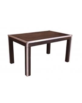 Tisch Horda dunkelbraun Massivholz dunkelbraun 90 x 140 cm_29239