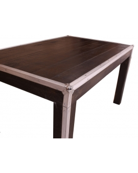 Tisch Horda dunkelbraun Massivholz dunkelbraun 90 x 140 cm_29241