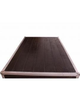 Tisch Horda dunkelbraun Massivholz dunkelbraun 90 x 140 cm_29242