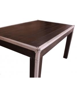 Tisch Horda dunkelbraun Massivholz dunkelbraun 90 x 140 cm_29243