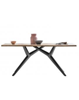 Tisch Karmo natur Kreuzfuss antikschwarz_29247