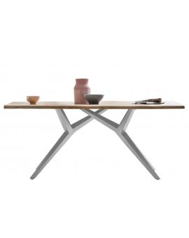 Tisch Karmo natur Kreuzfuss antiksilbern_29250