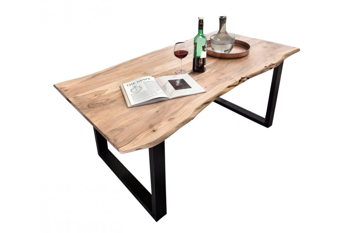 Tisch Karmo natur Kufe antikschwarz_29262