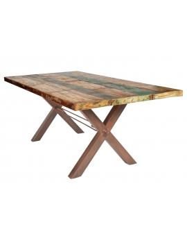 Tisch Kera bunt Metall antikbraun_29290