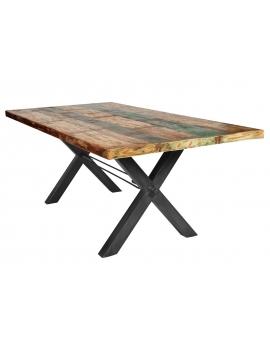 Tisch Kera bunt Metall antikschwarz_29292