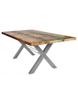 Tisch Kera bunt Metall antiksilbern_29294