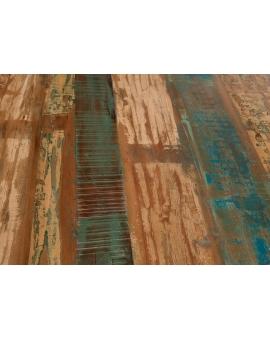 Tisch Kera bunt Metall antiksilbern_29295