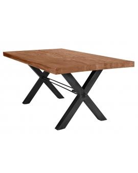 Tisch Kulma Balkeneiche natur X-Fuss antikschwarz_29300