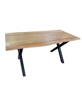 Tisch Larvi natur Metall schwarz_29356
