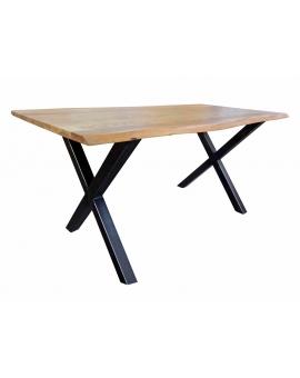 Tisch Larvi natur Metall schwarz_29357