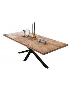 Tisch Lavi natur Metall antikschwarz_29366