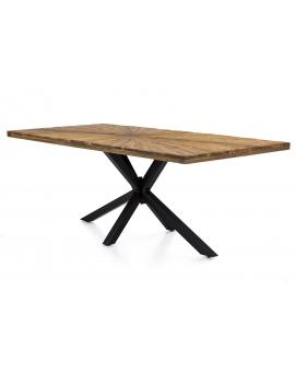 Tisch Lavi natur Metall antikschwarz_29367