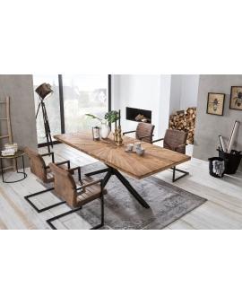 Tisch Lavi natur Metall antikschwarz_29368