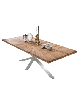 Tisch Lavi natur Metall antiksilbern_29370