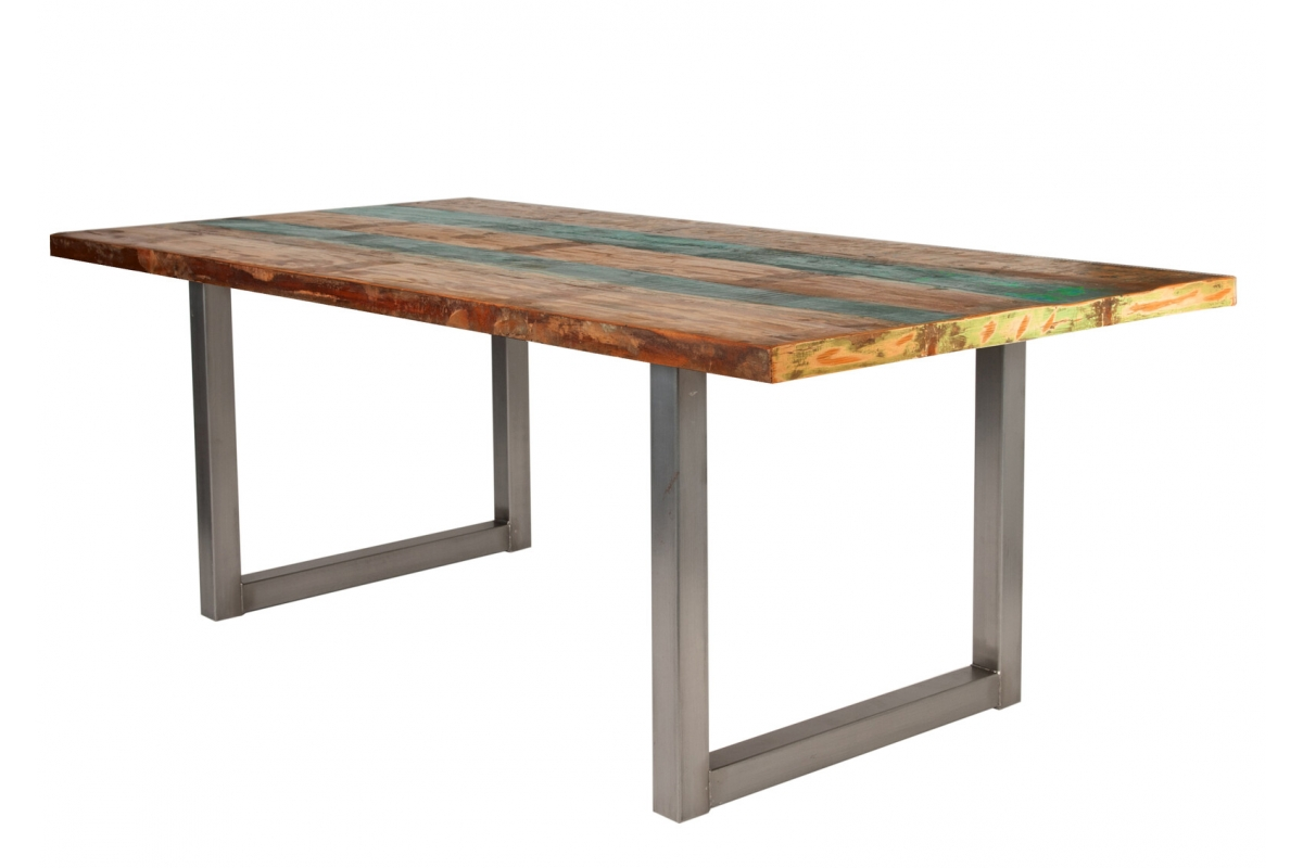 Tisch Mani bunt Metall antiksilbern_29387