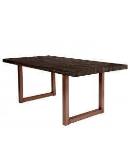 Tisch Nepa Balkeneiche carbon-grau Kufe antikbraun_29389