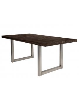 Tisch Nepa Balkeneiche carbon-grau Kufe antiksilbern_29391