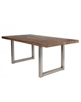 Tisch Nepa Balkeneiche Räucheröl Kufe antiksilbern_29397
