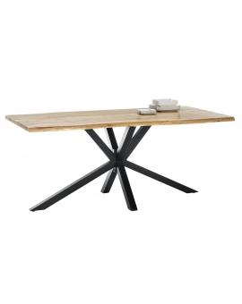 Tisch Porsu natur Kreuzfuss antikschwarz_29423