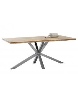 Tisch Porsu natur Kreuzfuss antiksilbern_29426